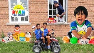 Ryan's World Toys Drive Thru | Ryan ToysReview | FamousTubeKIDS