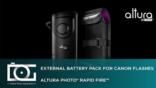 UNBOXING REVIEW | External Flash Battery Pack for CANON Flashes | Rapid Fire™ By Altura Photo®