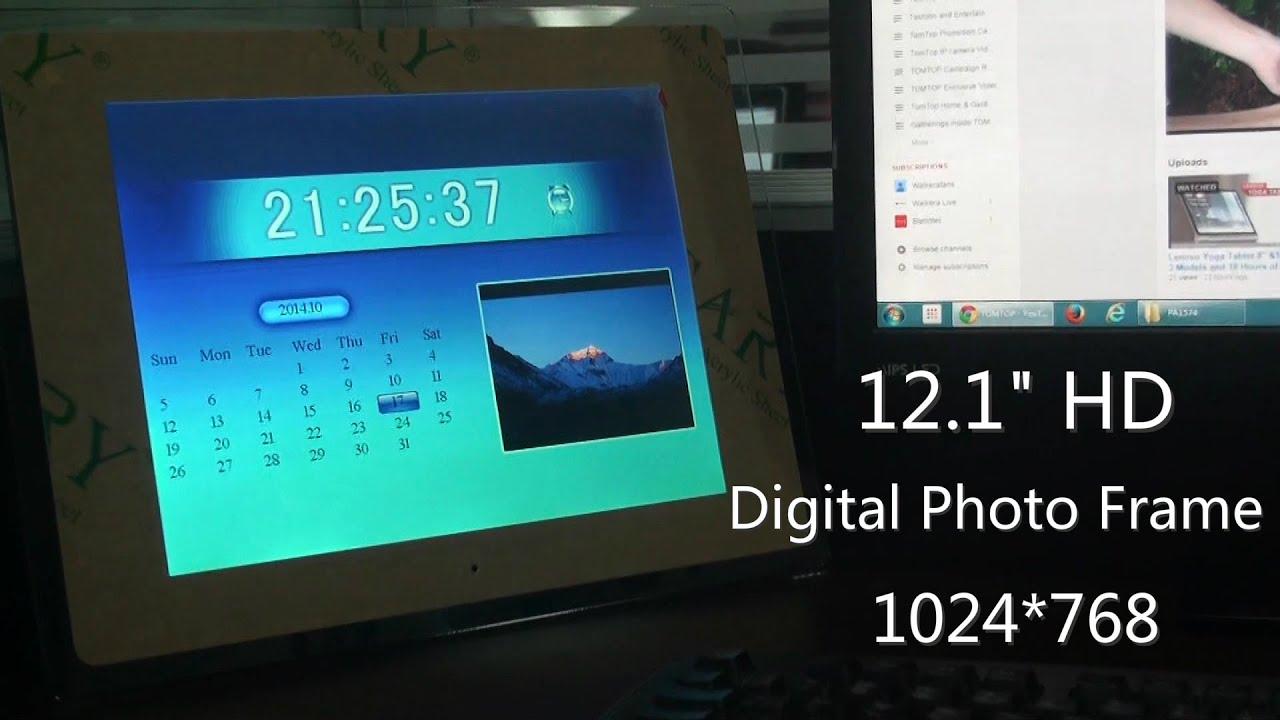 12 inch HD Digital Picture Frame Carbon Fiber  amazoncom