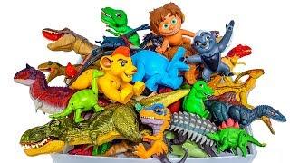 Box of Toys, Jurassic World dinosaur, The Good dinosaur, Lion Guard,Toy story,lego dinosaur,Schleich