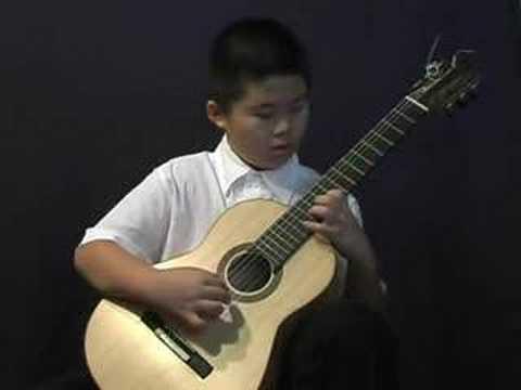 9 yr old boy Kevin plays Sunburst by Andrew York
