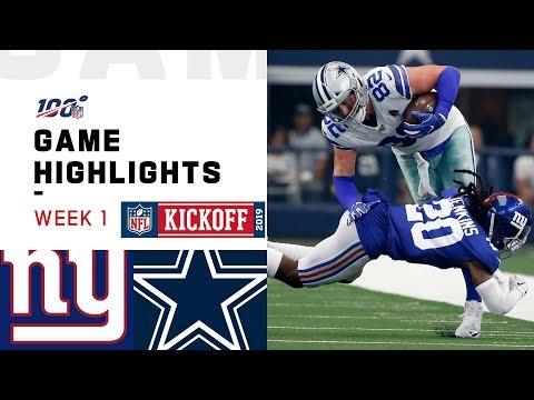 Giants vs. Cowboys Week 1 Highlights  NFL 2019