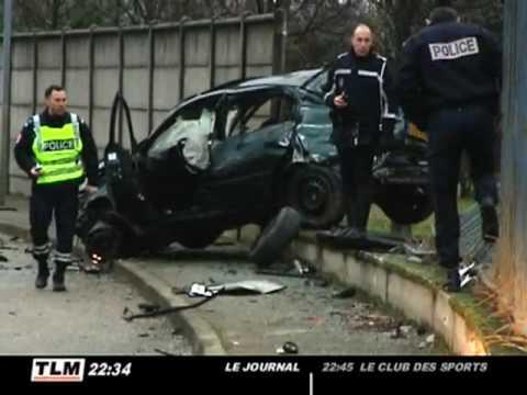 Accident mortel à la sortie du périphérique de Lyon
