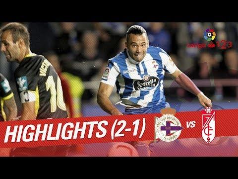 Resumen de RC Deportivo vs Granada CF (2-1)