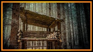 Waldcamp! - Bushcraft Shelter Lagerbau Camp - Supershelter Survival Deutschland #Lagerbau
