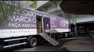 Rede família de televisão - Carreta da mamografia em Campinas