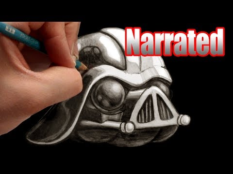 How to draw Darth Vader from Angry Birds Star Wars 2 (Artists Pencils)