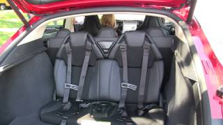 Model S Sunset Red child seats and more