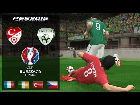 Turkey - Ireland • UEFA EURO 2016 • Pes2015 Gameplay•Türkçe Spiker № 1