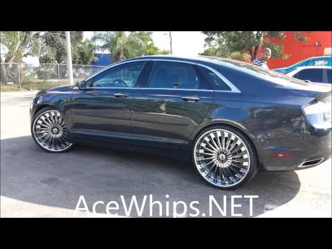 acewhips net first 2014 lincoln mkz on 24 39 forgiatos by. Black Bedroom Furniture Sets. Home Design Ideas