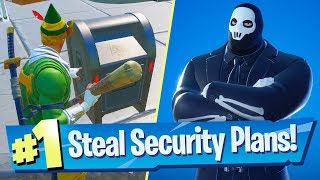 Steal security plans from The Rig, The Yacht or The Shark and deliver them to Shadow - Fortnite