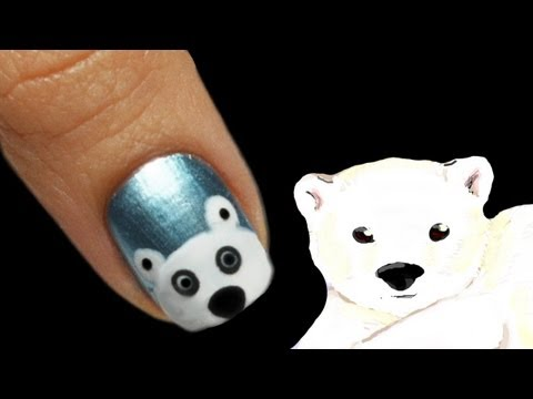 Polar Bear Nail Art Tutorial