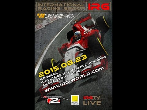rFactor 2 - Live Stream - IRG F1 2015 - Round 11 - Spa Francorchamps - Full Race