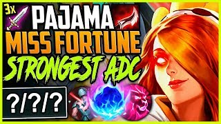 BOT LANE PAJAMA MISS FORTUNE | BY FAR THE STRONGEST ADC | LoL Bot Miss Fortune Season 9 Gameplay