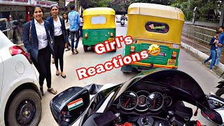 HAYABUSA COLLEGE GIRLS REACTIONS || BANGALORE