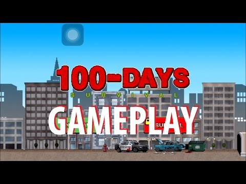 100 DAYS Zombie Survival Gameplay iOS / Android Video HD