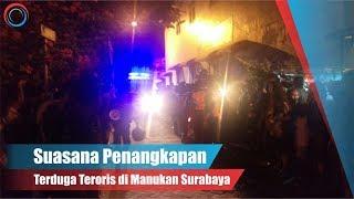 Suasana Penangkapan Terduga Teroris di Manukan Surabaya