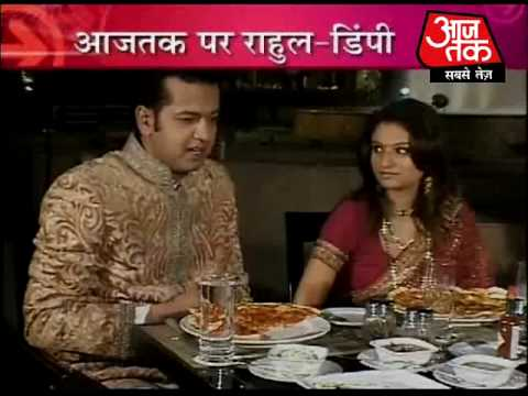 Mr and Mrs Rahul Mahajan on Aaj Tak. Part 1of 3