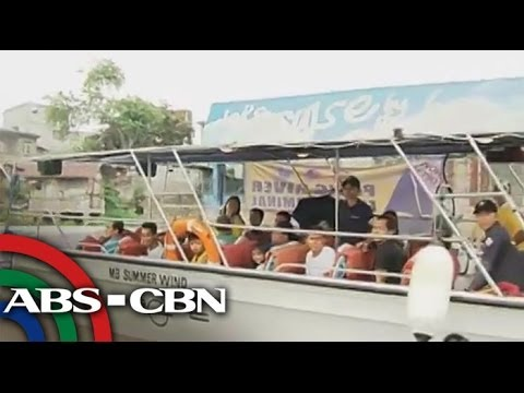 Pasig River stench greets ferry passengers