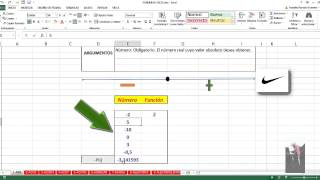 Función ABS Excel 2013: 1 de 449 (HD 1280 x 720) WMV Especial para YouTube