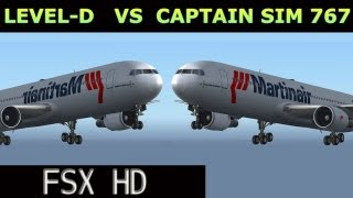 Level-d 767 VS CLS 767 (re-up) FSX HD
