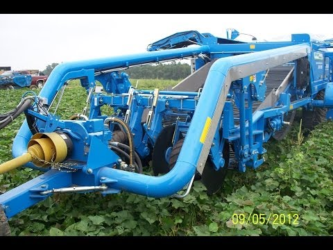 Standen TSP1900 Two Row Sweet Potato Harvester, OMEGA fluted roller separation, on-harvester adjustable steel roller sizing system, twin booms (discharge ele...