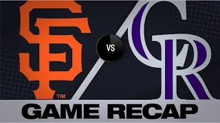 Crawford's 8 RBIs propel Giants to big win | Giants-Rockies Game Highlights 7/15/19