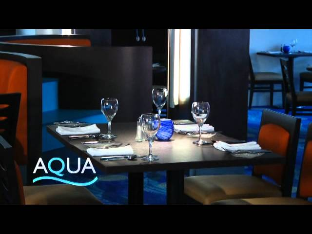 The Aqua Restaurant at the Hilton Nassau Hotel