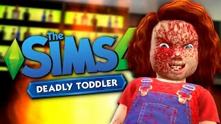 CHUCKY RETURNS - Deadly Toddler Mod - The Sims 4 Funny Highlights #103