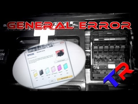 Epson Stylus Photo T60   P50 Artisan General Error Repair