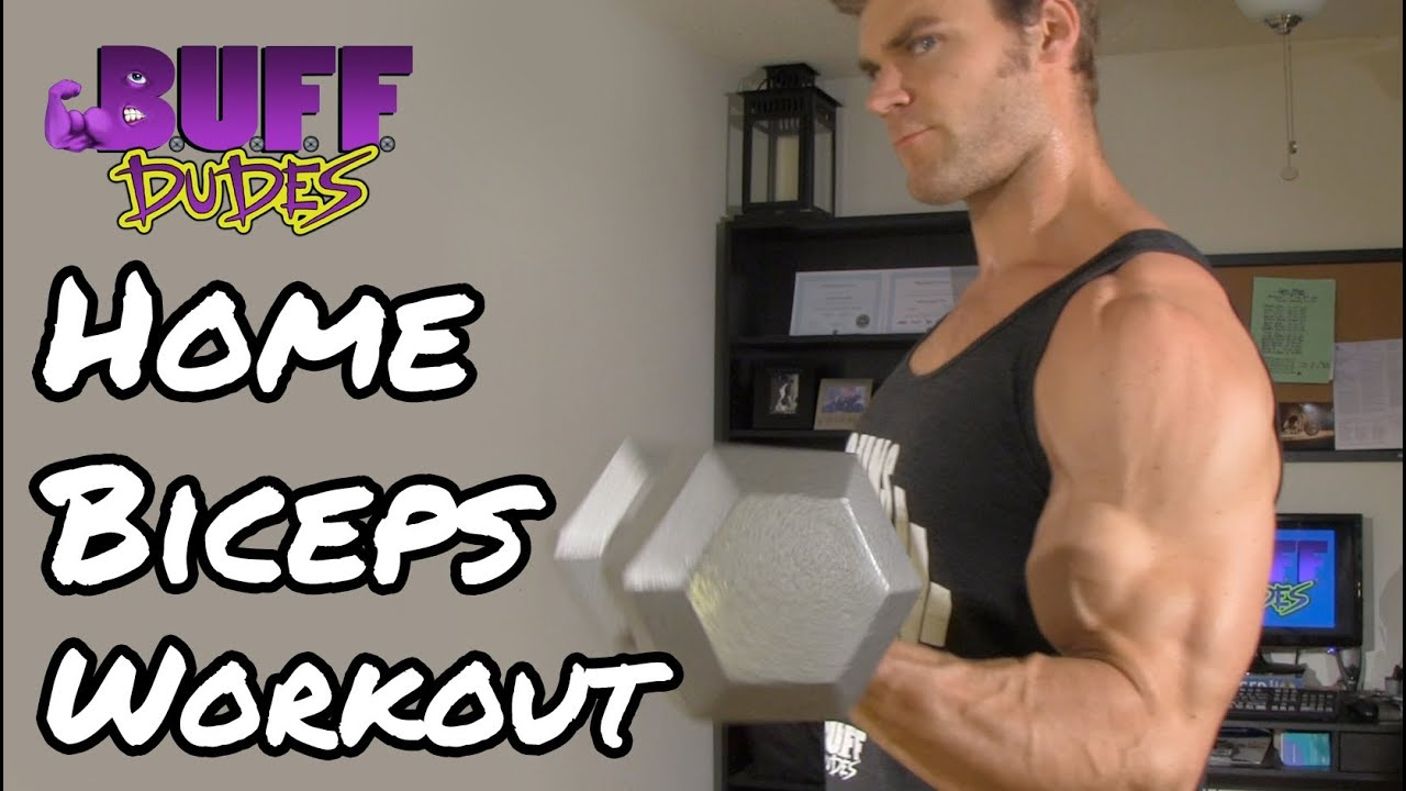 Home Workout Routine - Arms / Biceps Dumbbell Exercises ...