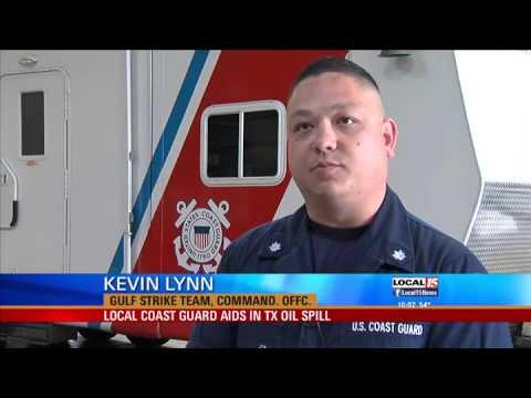 Local Coast Guard Aids in Texas Oil Spill