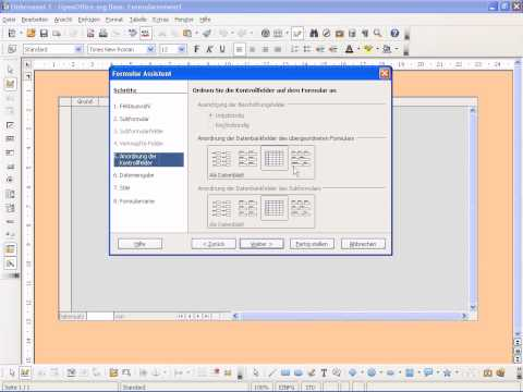 OpenOffice Base Formulare erstellen