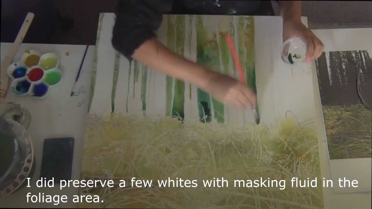 How to Paint Grass in Watercolor How to Paint Trees And Grass