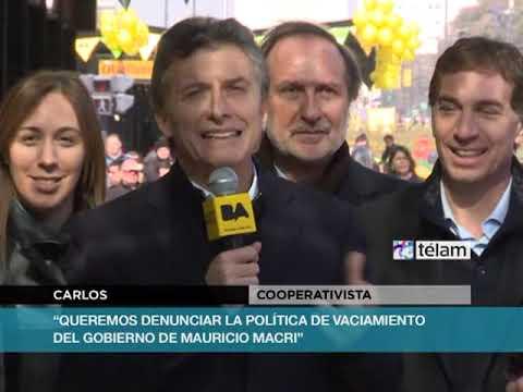 En medio de protestas sociales, Macri inauguró el Metrobus en la Avenida 9 de Julio