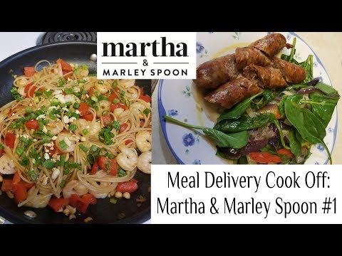 Meal Delivery Cook Off:  Martha and Marley Spoon Box #1