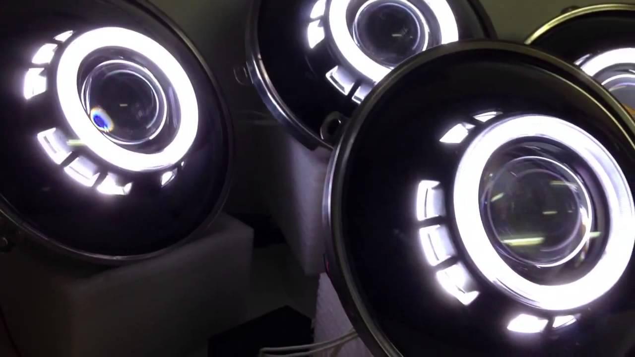 Jeep Wrangler Jk 7 Quot Bi Xenon Headlight Retrofit Youtube