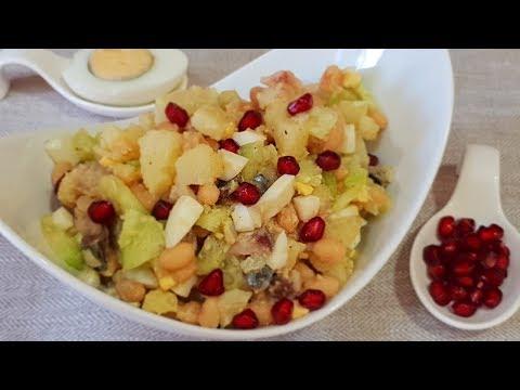 Грандиозное открытие новых вкусов!!! Салат из копченой скумбрии с фасолью. Рецепты салатов.