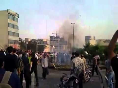دفاع مردم post election unrest in Iran Tehran Tazahorat Part2 تظاهرات در تهران