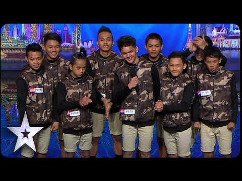 Dance troupe Junior New System opens with a bang   Asia's Got Talent 2015 Ep 1
