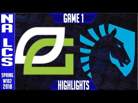 OPT vs TL Highlights | NA LCS Spring 2018 S8 W1D2 | OpTic Gaming vs Team Liquid Highlights