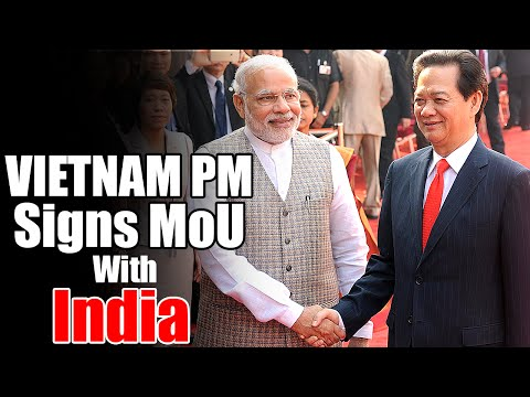 Vietnam PM Nguyen Tan Dung signs MOU with India