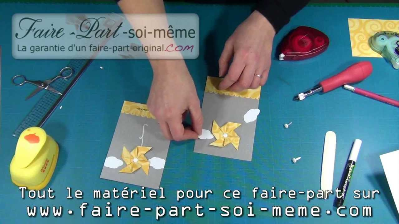 Faire part invitation communion moulin vent youtube - Creation facile a faire soi meme ...