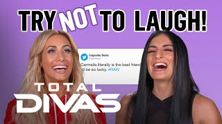 Carmella & Sonya Deville Play Game of 'Try Not to Laugh' | Total Divas | E!