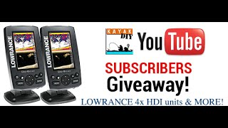 Enter The KayakDIY April Giveaway for Lowrance 4x HDI units & More!!!