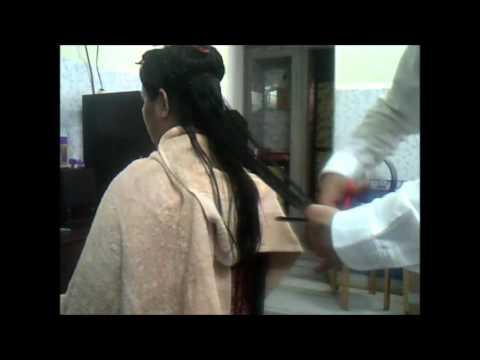 Long Silky Hair cut - YouTube