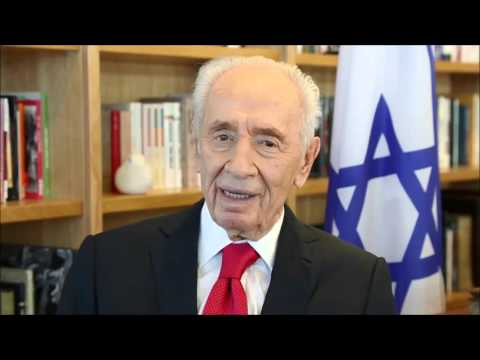 Former Israeli President Shimon Peres wishes Queen Elizabeth happy 90th birthday