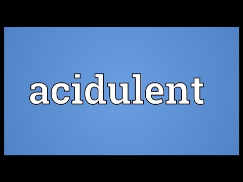 Header of acidulent
