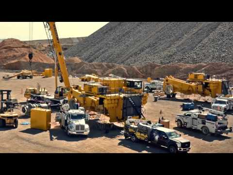 Rio Tinto Kennecott haul truck time lapse