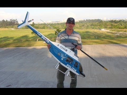 Big RC Scale Helicopter Bell 206 Jet Ranger Electric Flybarless
